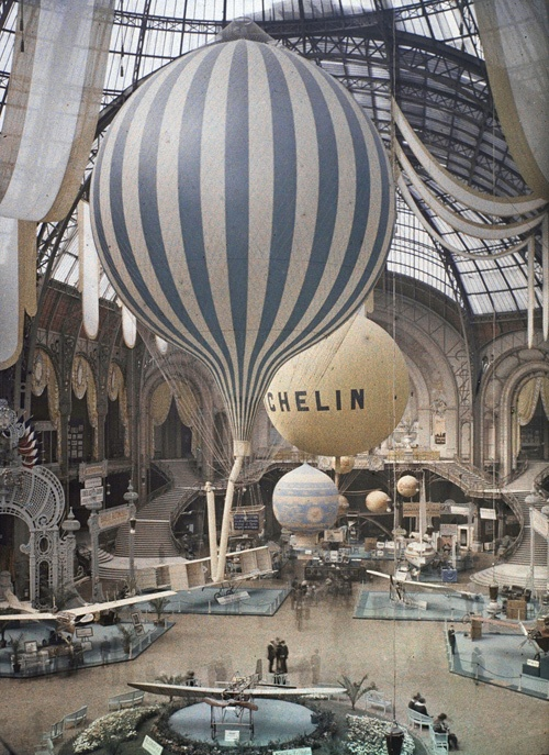 The first air show at the Grand Palais in Paris, France - September 30th, 1909.